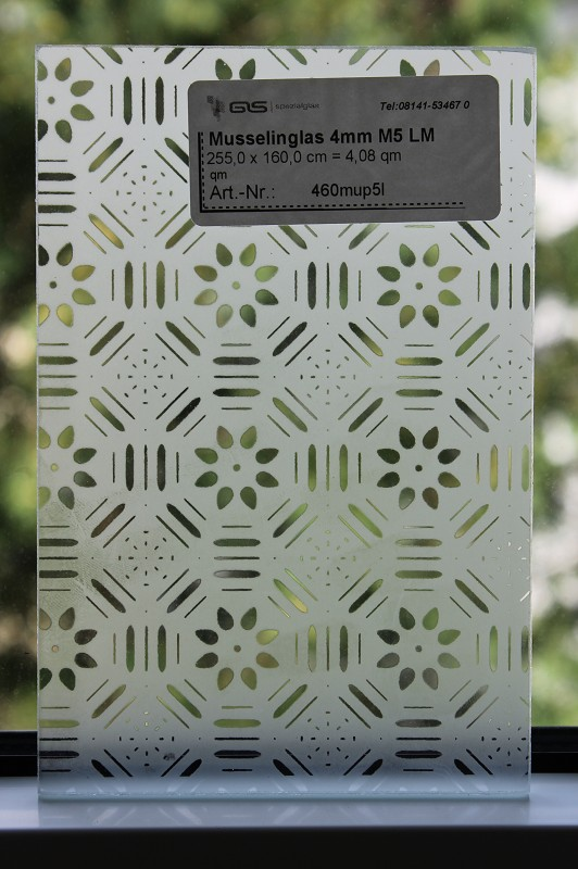 musselinglas 4mm m5 lm musselinglas vom gro handel f r farbglas strukturglas und kunstglas. Black Bedroom Furniture Sets. Home Design Ideas